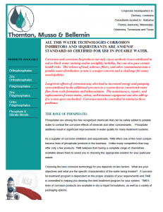 Thornton, Musso, & Bellemin Technologies Services & Products (Water Treatment)